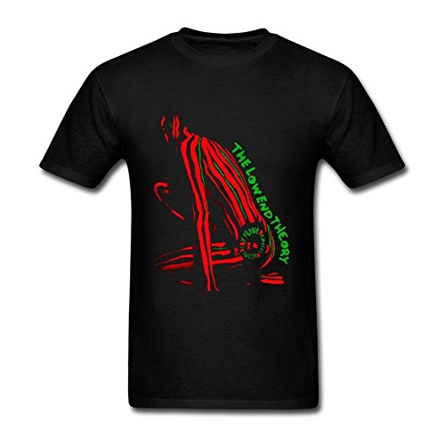 Sixtion Design Crew Neck T Shirts for Man 100% Cotton-A Tribe Called Quest The Low End Theory, dBlack, L (Shirt Crew Quest)