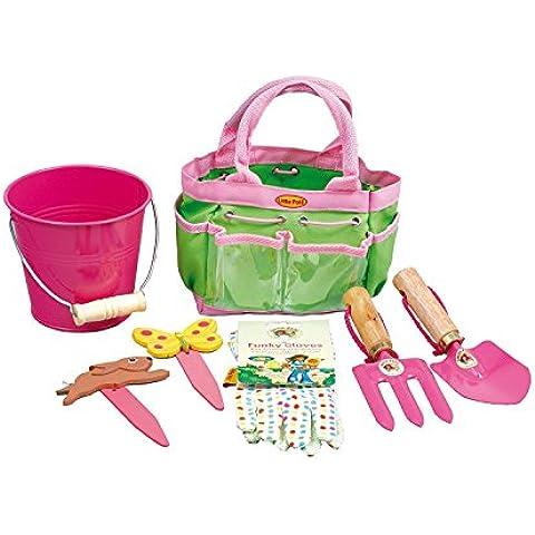 Little Pals - Juego infantil de herramientas de jardinería, color rosa