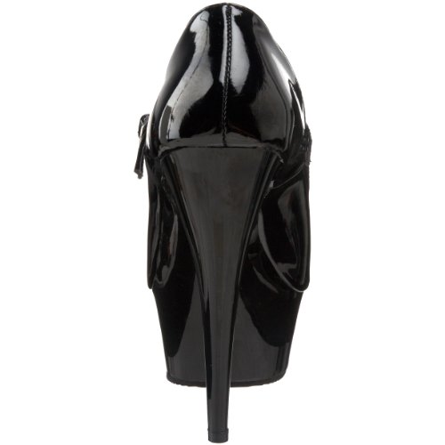Pleaser Del687 / B / M, Damen Pumps & Heels Mit Blockabsatz Schwarz (nero)