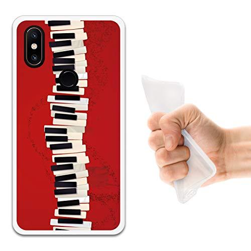 WoowCase Funda Xiaomi Mi Mix 2S, [Xiaomi Mi Mix 2S ] Funda Silicona Gel Flexible Teclado Piano, Carcasa Case TPU Silicona - Transparente