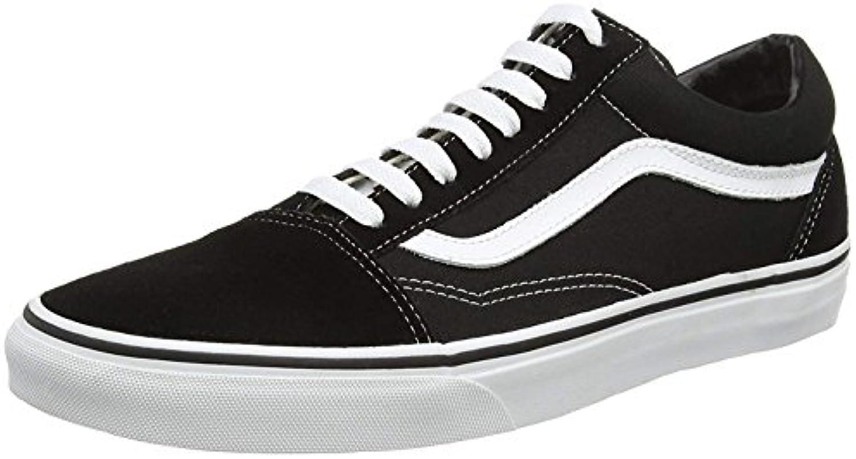 Unisex Erwachsene Old Skool Classic Suede/Canvas Sneakers 40.5 EU|Schwarz (Black/White)