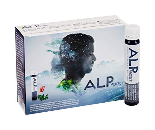 ALP NUTRITION, ALP PROTECT Trinkampullen 14x25 ml Nootropic Brain Booster Nahrungsergänzung zum Trinken - Mikronährstoffe Für Gehirn Konzentration Steigern Immunsystem Stärken Anti Stress -
