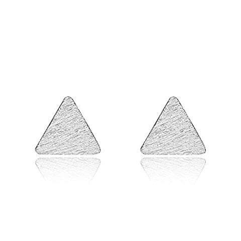 iszie jewellery sterling silver triangle stud earrings