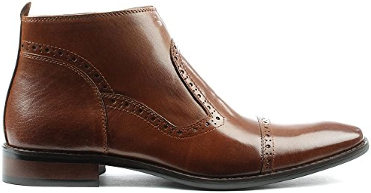 DANIEL Hermitage Tan Leather Hole Punch Ankle BootDANIEL Hermitage Leather Punch Ankle