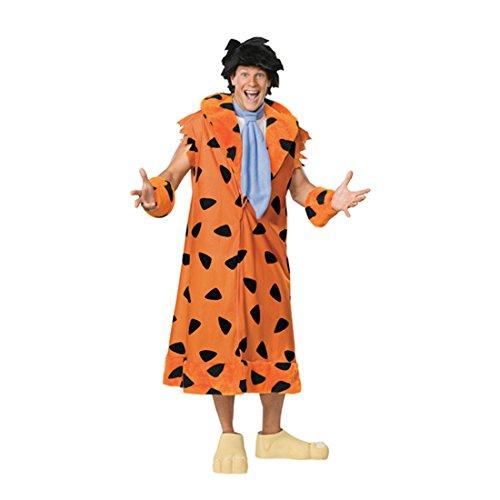 Fred Feuerstein Kostüm Flintstones Herrenkostüm Fasching Karneval M/L Gr (Feuerstein Fred Perücke)