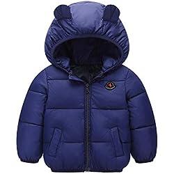 Minizone Bebé Chaqueta con Capucha Abrigo de Invierno Ligeras Traje de Invierno 9-12 Meses
