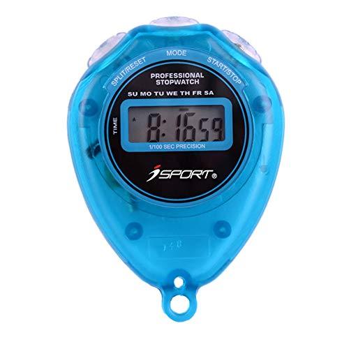 ZUZU Cronometro Digitale Semplice Funzionamento di Base Silenzioso Chiaro Display ON/off Timer Digitale Professionale per cronometro Sportivo Adatto