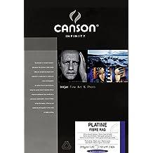 Canson Infinity Platine Fibre Rag  310 g/m2 - Papel fotográfico, caja 25 hojas, A3+ - 32,9 x 48,3 cm
