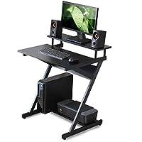 طاولة مكتب للكمبيوتر من فيتوايز للمنزل والدراسة/الكتابة/اللعب، بلون اسود CD307001WB-KSA