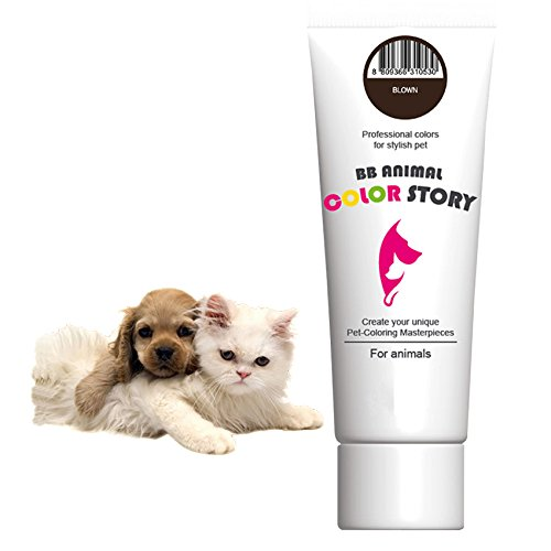 Brown 50ml Dog Hair Dye Hair Coloring Professional Colors for Stylish Pet