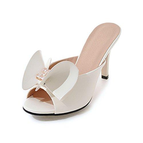 Versione coreana delle pantofole in estate/all'aperto pantofole/Strass fiocco tacco alto sandali B