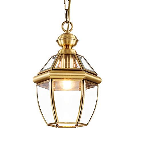 Zceillamp Moderne Kupfer-Hängelichter European Chandelier Pendant Lights Glass Shade E27 Bulb-Cafe Bar Loft Bedroom Dining Room Lighting Decoration Lampe -