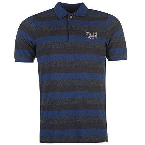everlast-herren-gestreift-polo-shirt-kurzarm-polohemd-baumwolle-freizeit-marineblau-xxx-large