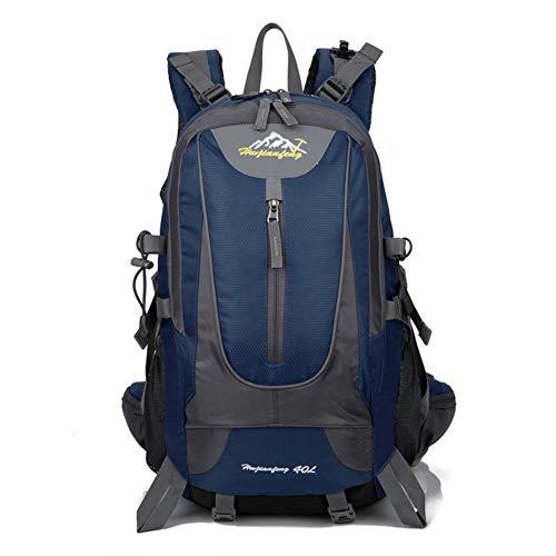 40L Mens impermeable al aire libre impermeable deportes mochila viajes de senderismo camping bolsa mochila bolsa mejor regalo de Navidad (Azul oscuro)