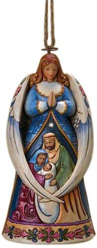 Heartwood creek 4023470 angelo con le ali intorno sacra famiglia resina, design di jim shore, 12 cm