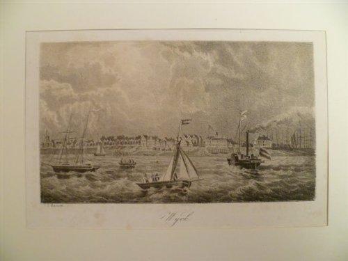 Wyck. Lithographie mit Tonplatte von C.P. Hansen. Um 1865. 9 x 16 cm.