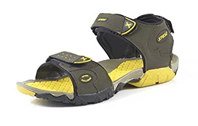 Xpose Yellow & Mouse Men's Sandals 9