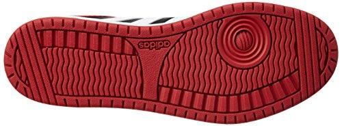 Adidas Hoops Vs, Scarpe da Basket Uomo Nero (Core Black/Ftwr White/Power Red)