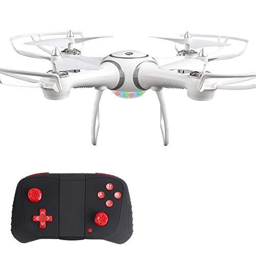 WANGKM GPS-RC-Drohne, Starke bürstenlose Motoren, Höhenhaltefunktion, Wi-Fi-Gyro-Quadcopter, Headless-Modus und One Key Return Home,für Kinder und Anfänger (Drohnenkamera Nicht Enthalten),White