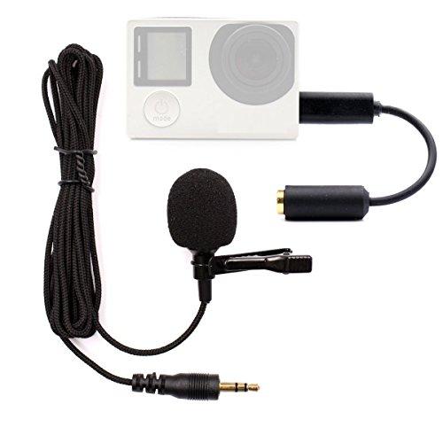 PANNOVO Mikrofone FÜR Gopro, 3.5mm mini Mic Mikrofone Adapter Zubehör FÜR Gopro...
