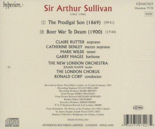 Sullivan - The Prodigal Son / Boer War Te Deum