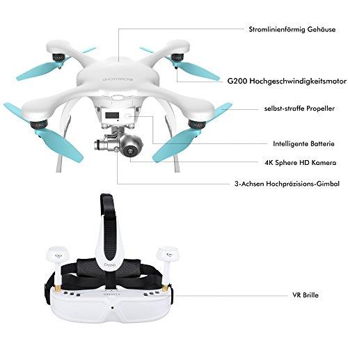 EHANG GHOSTDRONE 2.0dron con control mediante app de Smartphone, cuadricóptero profesional con...