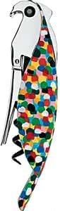Alessi AAM32 1 Parrot Cavatappi Sommelier, Alluminio Pressofuso e PC, Decorato a Mano, Multicolore