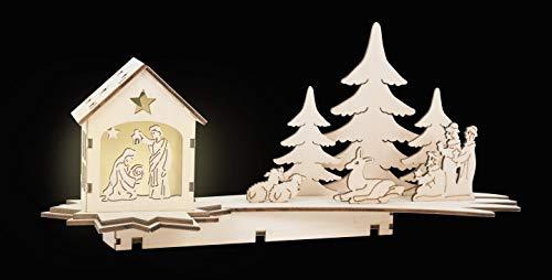 Small Foot Company lámpara en Forma de Estrella fugaz, Pesebre Tallado en...