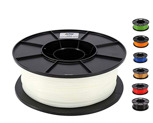 JANBEX PLA (Weiß) Filament 1,75 mm 1kg Rolle für 3D Drucker oder Stift in Vakuumverpackung