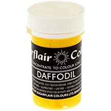 Sugarflair DAFFODIL YELLOW Pastel Paste Gel Edible Concentrated Food Colouring