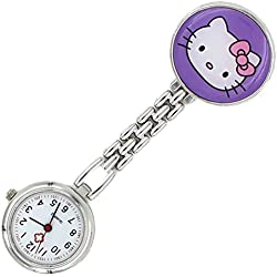 Meta-U Cat Pocket Watch-Purple