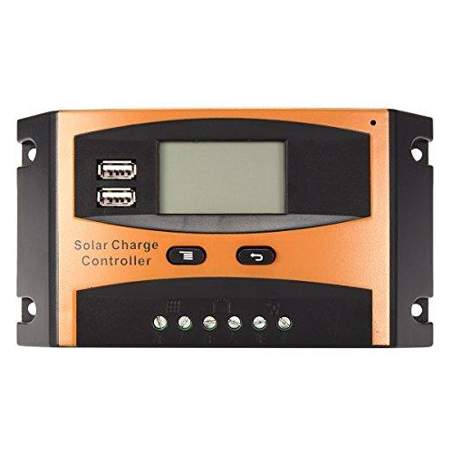 KUNSE 12V/24V 20A Auto USB Regolatore di Carica del Pannello Solare LCD Display Pwm Regolatore