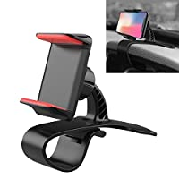 Gift Multi-functional Vehicle Navigation Frame Dashboard Car Mount Phone Holder good choice (Color : Red)