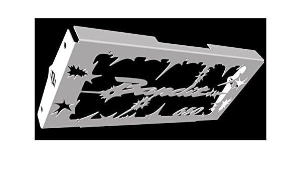 grillage anti gravillon bleu cache radiateur grille de radiateur inox poli GSF 650 Bandit 20072015 design Bulldog