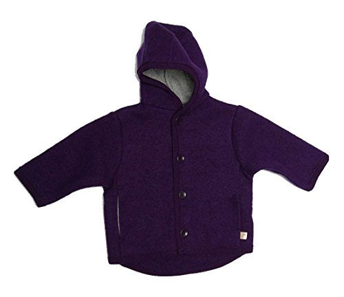 Disana Kinder Baby Walk-Jacke 100% Bio-Schurwolle (98/104, Beere)