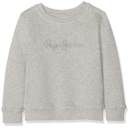 Pepe Jeans Jungen Crew Neck Boys Sweatshirt, Grau (Grey Marl 933), 2 Jahre (Herstellergröße: 2) Denim-jean-jumper