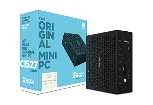 ZOTAC ZBOX CI527 nano mini-PC Barebone (Intel Core i3-7100U dual-core, Intel HD-Graphics 620, lüfterlos)