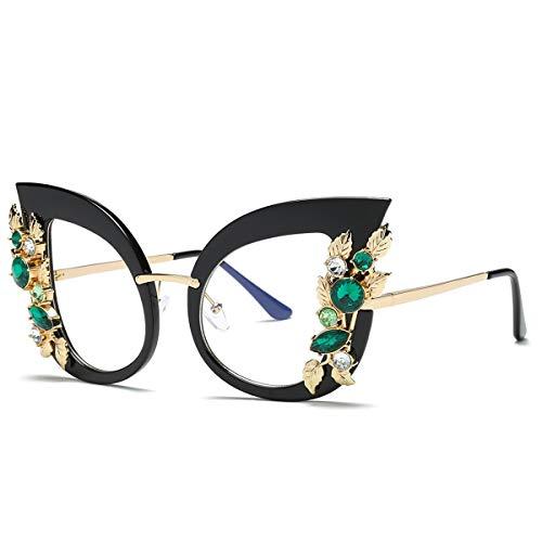 Nosii Frauen Mode Sonnenbrillen Cat Eye Shaped Blume Sonnenbrille UV Schutz Weibliche Damen Sonnenbrille (Color : 4)
