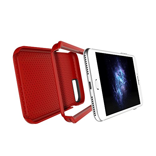 "Apple iPhone 7 & iPhone 6 / 6s 4.7"" case, Prodigee [Breeze] Red Schutz dünn Hülle Stück dünner dünnfor Cell phone case with textured back 2-piece design Red"