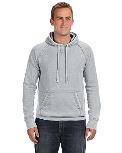 J America J8915 Adult Vintage Zen Hooded Pullover Fleece - Cement, 3XL by J. - Ocean Fleece-stoff