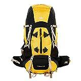 HEUFHU888-Outdoorrucksack Outdoor Bergsteigenbeutel Sporttasche 55L Reisetasche wasserdichter Rucksack Bequem und praktisch (Farbe : Gelb, größe : 41 * 23 * 71cm)