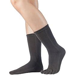 Knitido Essential Pantorilla - Calcetines clásicos con dedos - largos , Talla:39-42, Colores:gris