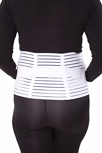 Fitdoo Ceinture de grossesse Le support de l'estomac Support de sangle ventre 2 Couleur blanc