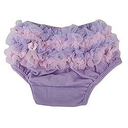 Generic Baby Girl Ruffle Panties Bloomers Diaper Cover S Light Purple