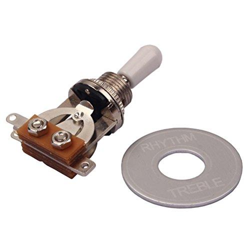 healifty Kippschalter 3Wege Stick-on Rhythm Treble Washer Ring Kit Platte für elektrische Gitarre Gibson Epiphone Les Paul/LP - Kits Elektrische Gitarre