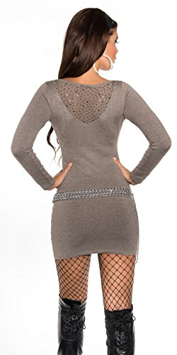 Sexy KouCla Feinstrick-Minikleid mit Nieten Koucla by In-Stylefashion SKU 0000ISF821501 Cappuccino