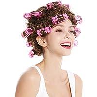 WIG ME UP ® - 4204-P6 Carnaval Halloween Peluca Mujer ama de casa rulos