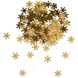 Winter Wonderland Gold Table Confetti & Diamonds for Christmas or Winter Wedding Table