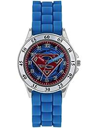 fe912e063bb9 Superman Reloj Analógico para Niños de Cuarzo con Correa en Caucho SUP9227