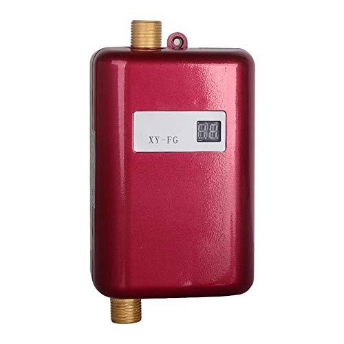 Chirsemey Mini Durchlauferhitzer, Durchlauferhitzer Ohne Tank, Energiesparendes, Schnelles Wasserheizgerät Mit Temperaturanzeige Für Badezimmer, Küche, Schönheit, Friseursalon -
